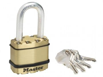 Excell Brass Finish 45mm Padlock 4-Pin - 38mm Shackle